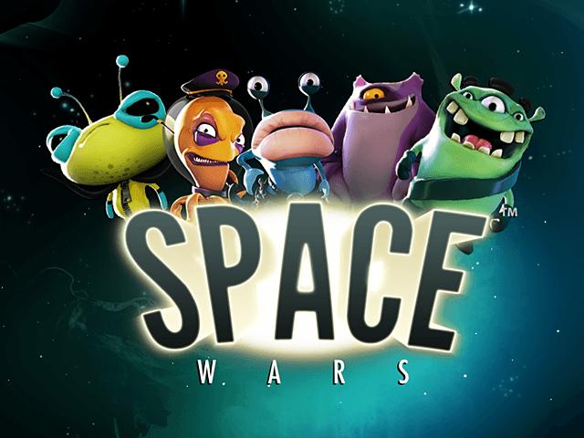 Запустите вращение барабанов в игровом автомате Space Wars онлайн